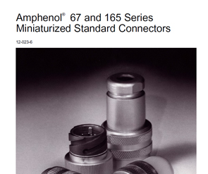 Document 67 and 165 Series Miniaturized Standard Connectors Catalog