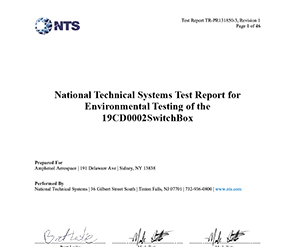 Document National Technical System Test Report for Environmental
